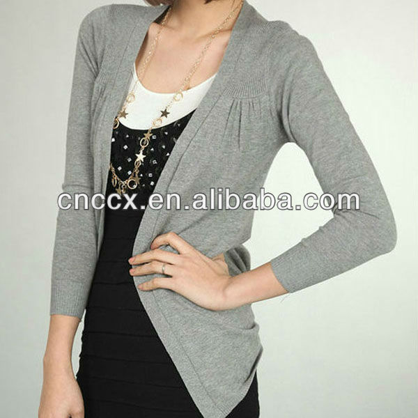 13stc5021 Ladies Wool Sweater Design Cardigan Sweater