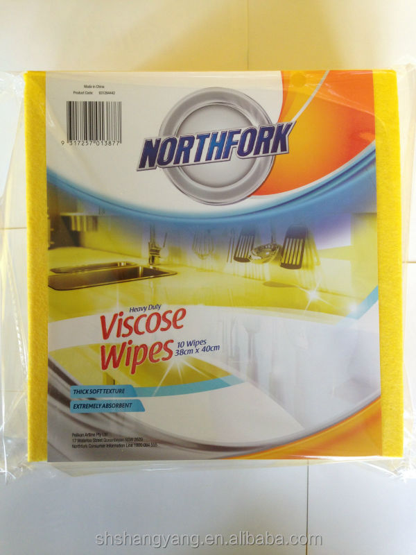 Super absorbent 50%viscose,50%polyester needle punched nonwoven cleaning cloth