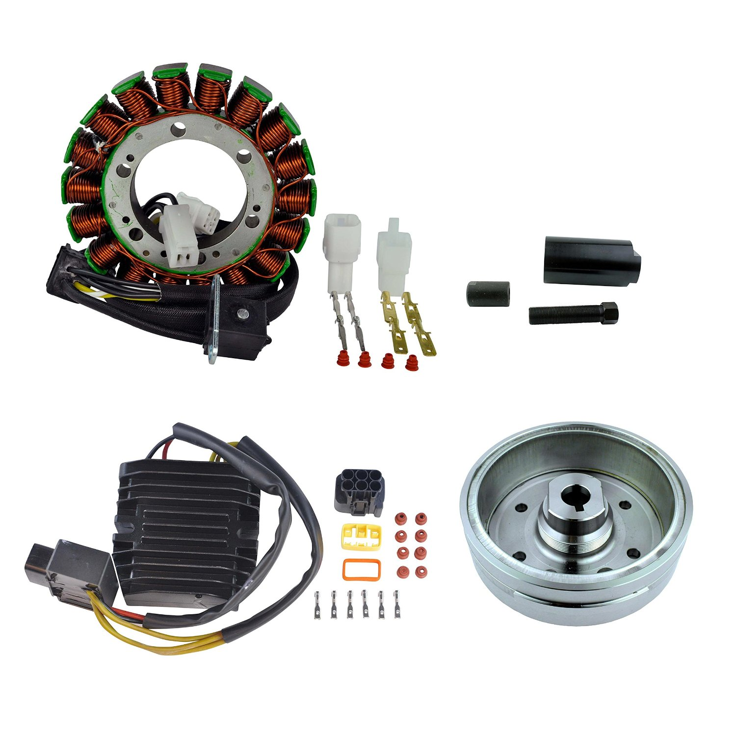 Kit Improved Flywheel + Flywheel Puller + Stator + Mosfet Voltage Regulator For Suzuki LTA/LTF 400 Eiger 2002 2003 2004 2005 2006 2007