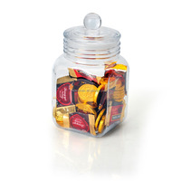 large square glass airtight jar candy jar