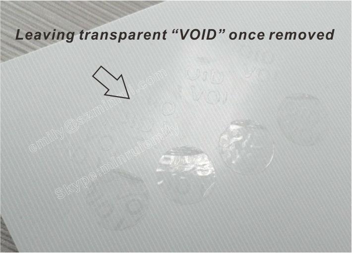 Custom Tamper Proof Tranparent Void Vinyl Stickers With Customized - Custom vinyl stickers transparent