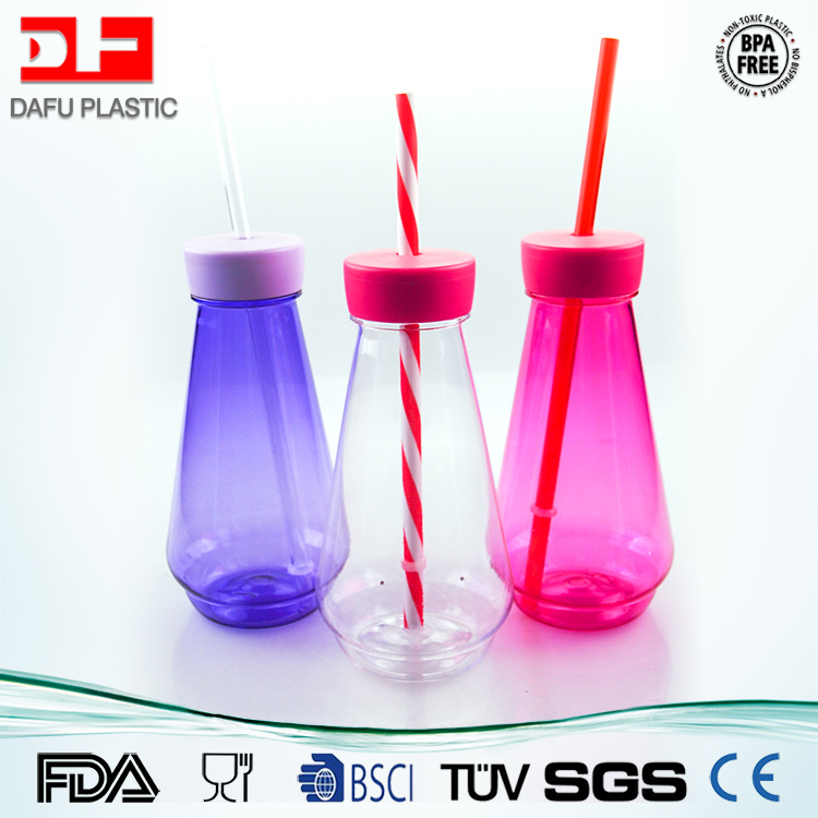 300ml milk bottle with straw for kids drinking BPA free safe living