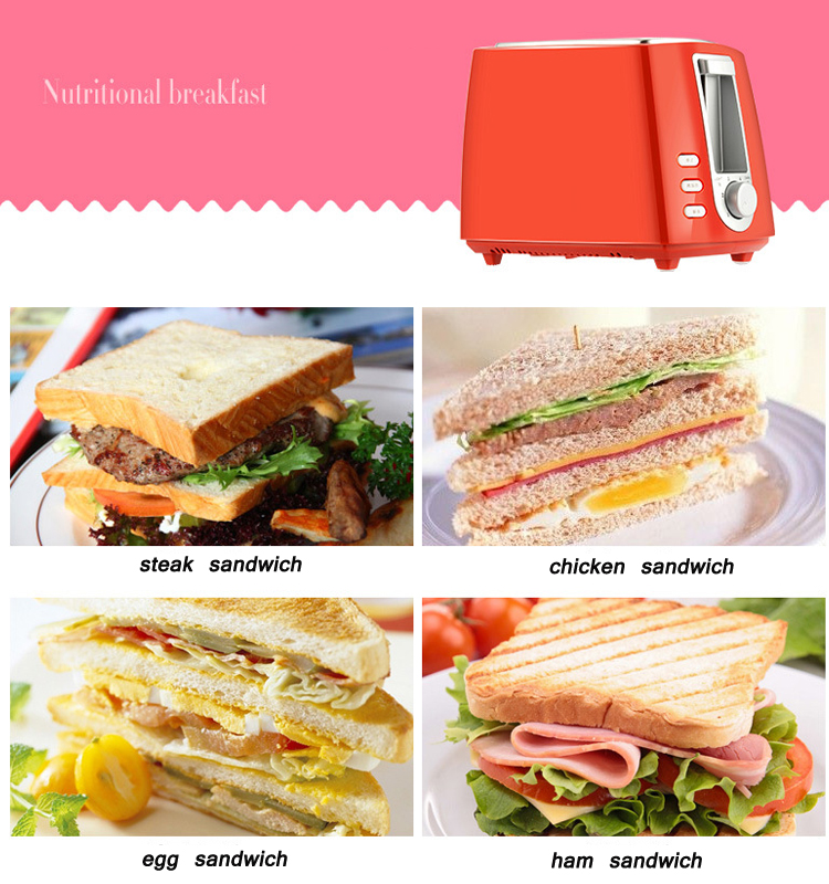 Best selling stainless steel flat 4 slice bread toaster grill