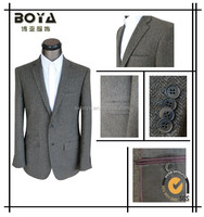 2015 new arrival woolen blazer for men brown-grey suits made in china