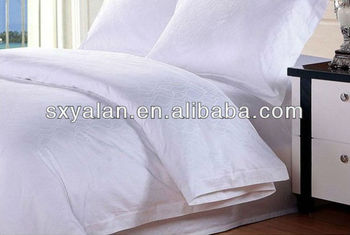 50 Cotton Polyester Jacquard Hotel Bed Sheet Fabric