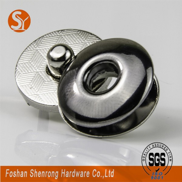 17mm Round Eco-friendly Metal Magnetic Push Snap For Bags And ...