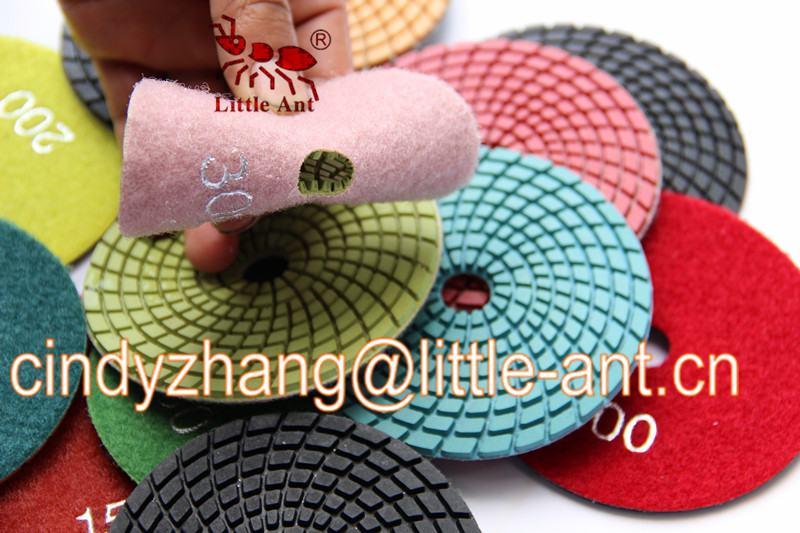 China factory made diamond flexibe wet polishing pad with very nice response in Australia
