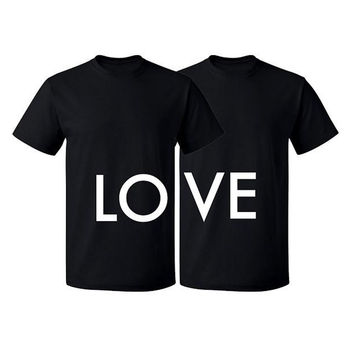 Couple Matching T Shirt Love Tshirt Valentines Day Couple Shirts