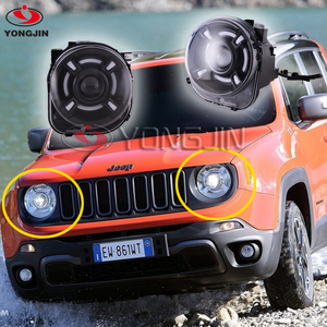 YJ A&T Car Styling For JEEP Renegade headlights For Renegade LED head lamp Angel eye led DRL front light Bi-Xenon Lens xenon HID