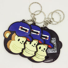 Factory Direct Sale Yiwu Soft Rubber Monkey Key Tag