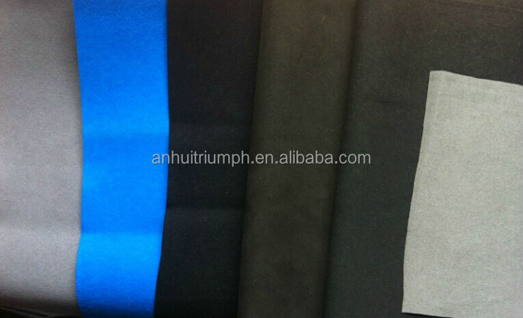 both sides suede microfiber suede leather used for gloves,shoes and sofa
