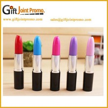 Newly design customized logo plastic lipstick ballpoint pen