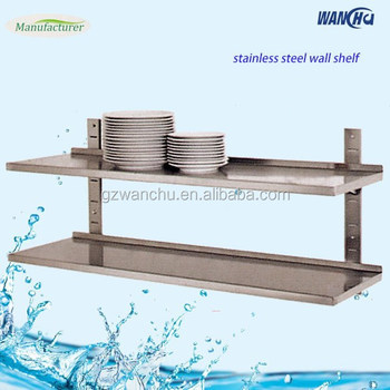 Kitchen Storage Shelf Wall Mounted Stainless Steel With Hook