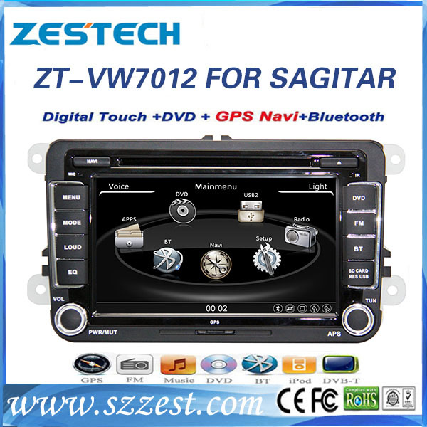 ZESTECH Wholesale indash 2 din hd touch screen gps oem car pc with gps navigation for VW Touran 2003-2011 double din car pc