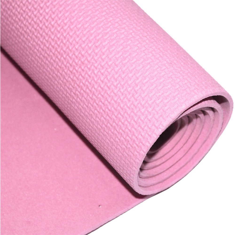 """Ezyoutdoor Unisex Non Slip Yoga Mat Non Toxic Eco Friendly 71''L 19.6"""" W High Density Tpe Material Waterproof 6mm Extra Thick Exercise Mat for Fitness Workout Pilates and Hot Yoga"""