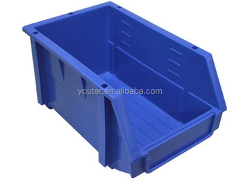 stackable plastic storage box warehouse spare parts storage bin