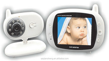 3.5 inch LCD digital wireless video digital baby monitor with night vision and temperature