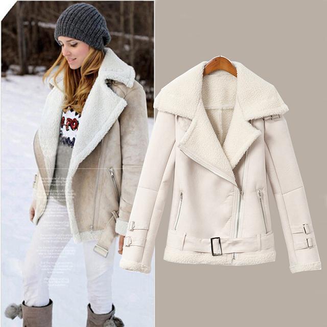 2014 marque de mode en daim veste en fausse fourrure l 39 int rieur chaleur manteaux courts. Black Bedroom Furniture Sets. Home Design Ideas