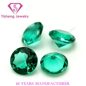 12mm Synthetic Names Green Glass Gemstones