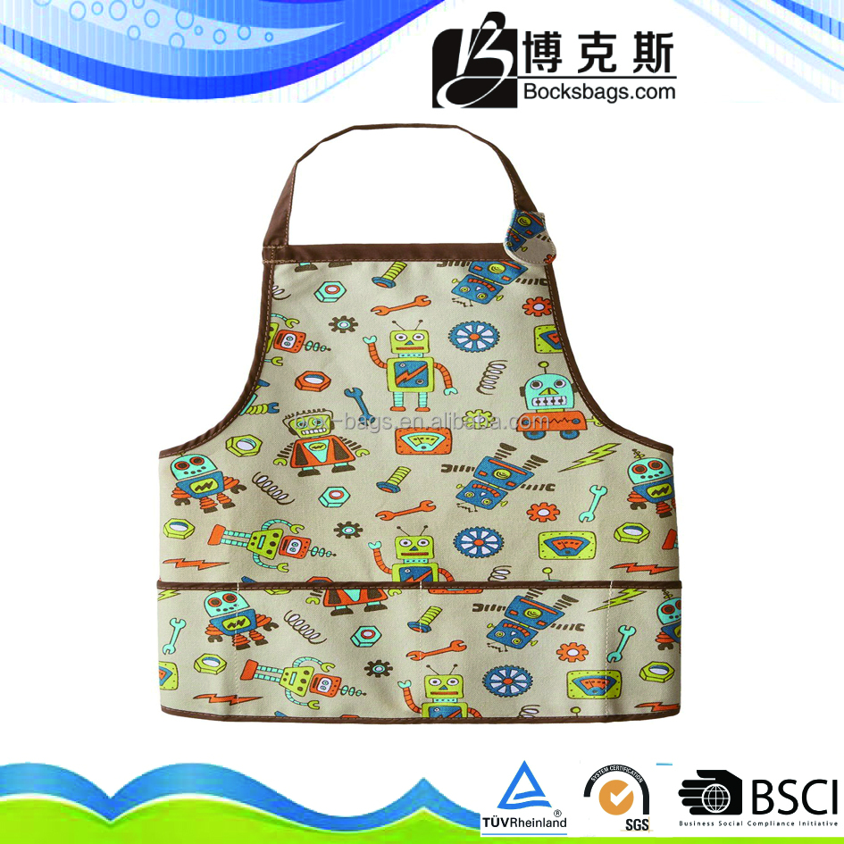 child cotton apron with front pocket