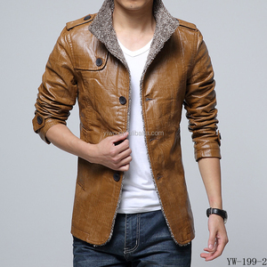 OEM service customized men slim pu leather outdoor jacket