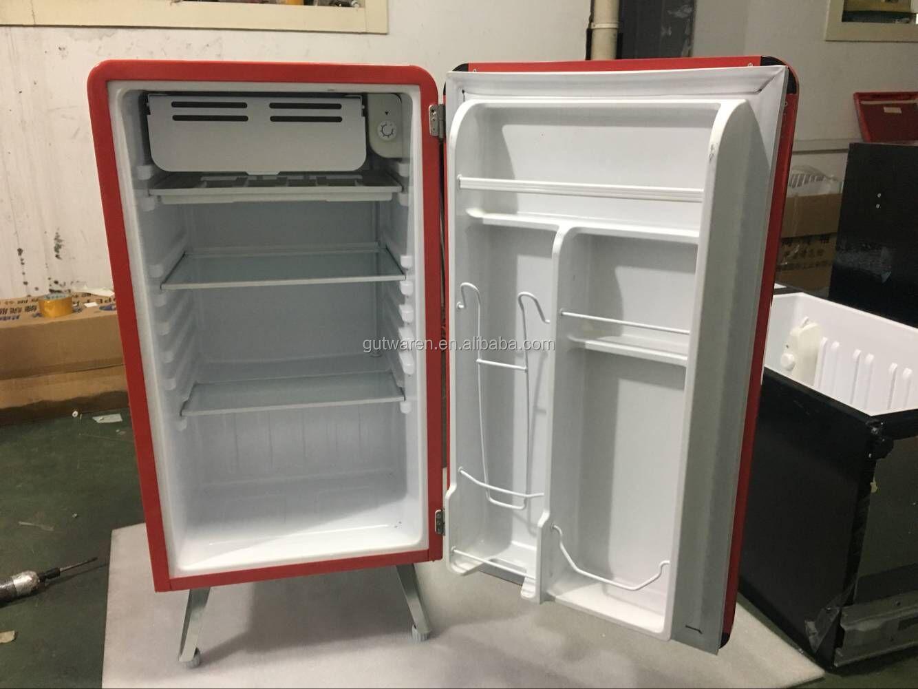 Mini Kühlschrank Retro : Bd antike retro kühlschrank doppel tür mini kühlschrank smeg