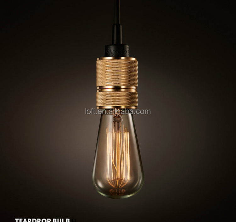 Indoor Copper Holder Lighting Fixture Golden Iron Pendant Lamp ...