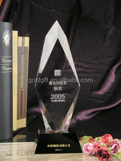 Book shape New &fashion Crystal Awards And Trophies for business gift