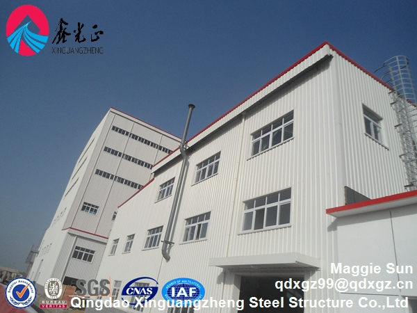 Light steel structure embedded anchor bolt warehouse (workshop,steel building)