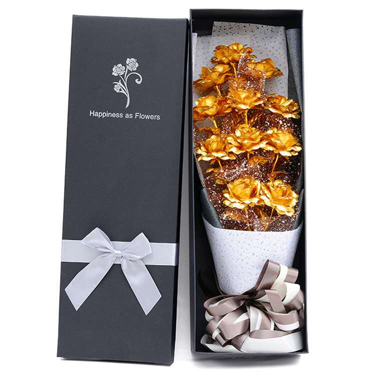 11 24K gold foil rose bouquet mother's day <strong>gift</strong> to send mom 520 <strong>gift</strong> to girlfriend