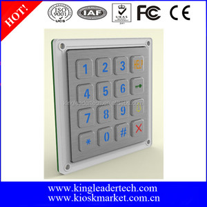 Rugged LED Backlight Metal keypad with 4x4 Matrix For Access Control System