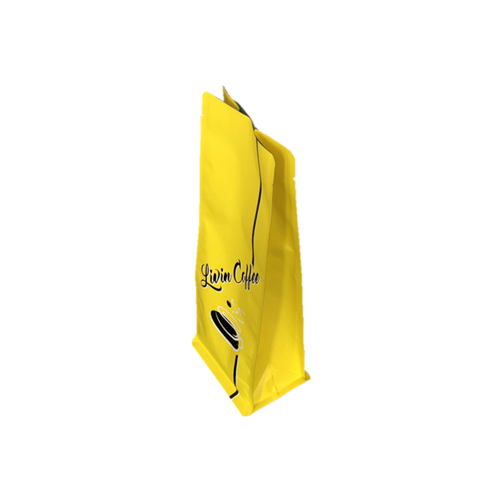 print stand up custom plastic bag for packaging coffee bean black zip lock plastic bag pouch