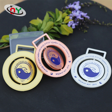 Made in China custom enamel iron bronze acrylic plastic zinc alloy wooden crystal metal gold sports badge blank award medal
