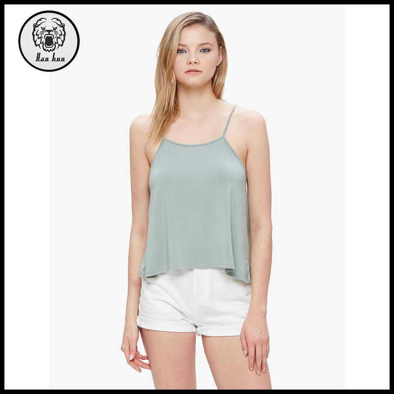 2017 Summer women fashion straight neck cami with low back tank top