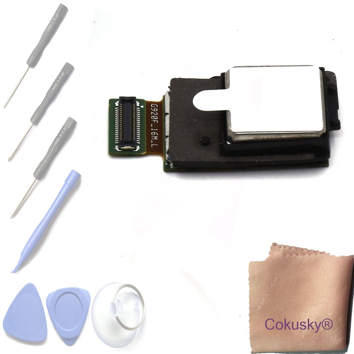Cokusky Rear Face Main Back Camera Repair for Samsung Galaxy S6 EDGE G925A G925V G925P G925T+with Tools