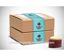 Factory price custom design well-made roll cake packaging