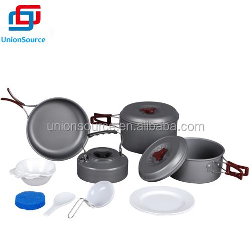 Kualitas tinggi keras anodized aluminium camping masak set for Gambar kitchen set high quality
