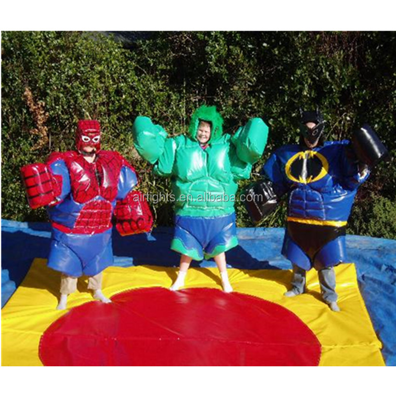 Hot selling foam sumo suits, amusing sumo wrestling game, themed superhero sumo suits