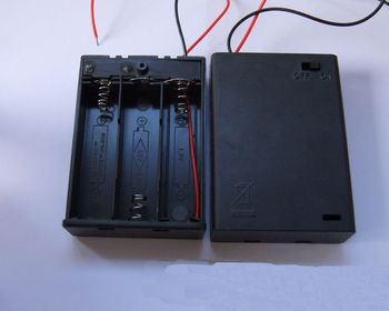3aa Battery Box With Cover,4 Aa Battery Holder With Revoable Cover ...