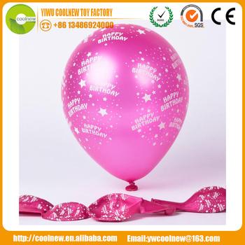 Custom Logo Printed Inflatable Balloon Handmade Happy Birthday Wishes Friends