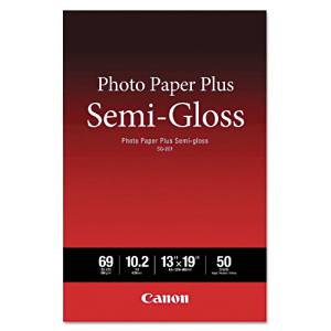 Canon 1686B064 Photo Paper Plus Semi-gloss SG-201 - Semi-gloss photo paper - 10.2 mil 13 in x 19 in - 50 sheet(s) - for PIXMA iP3680, iP4820, iP4850, MG8250, MP198, MP228, MP245, MP252, MP258, MP280, MP476