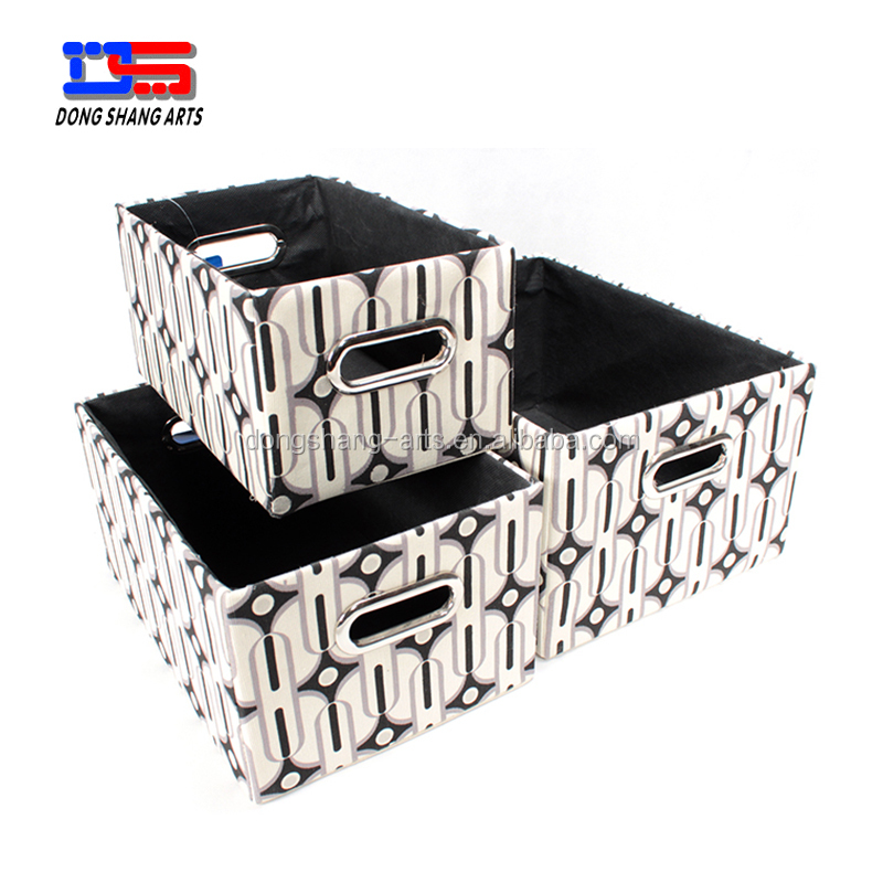 lovely pattern cloth canvas storage basket bin for toy