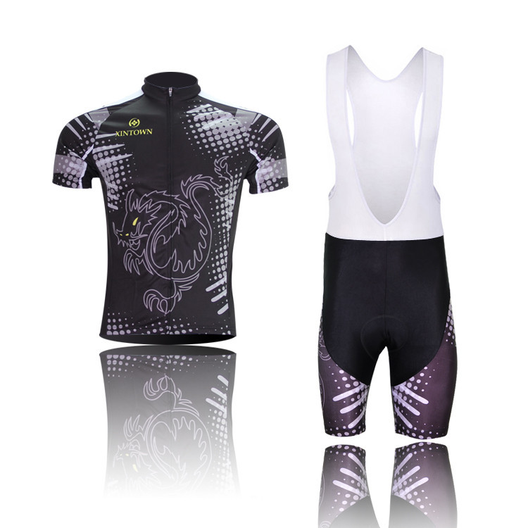 c18399736 Get Quotations · Men Cycling Bib Short Jersey Set Black Dragon Design  Wicking Clothes Ciclismo Ropa Ciclismo Mountain Bicycle