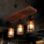 wood board Chandelier & pendant lights vintage hanging light