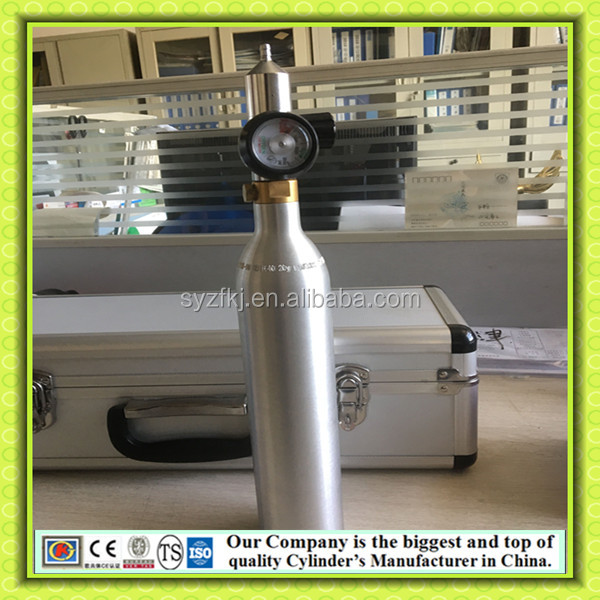 KJ factory direct sale Soda Maker 0.5L 0.6L Mini Co2 Aluminum Cylinder Co2 Gas Cylinder