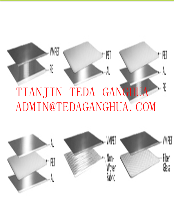 Metalized PET Film/VMPET film/Mpet film+LDPE