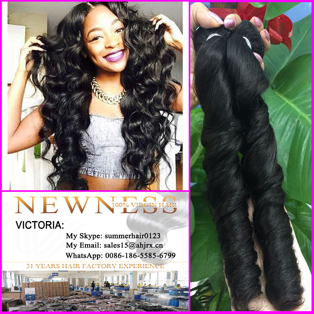 Newness Hair Material And Virgin Hair Wig Curly Wavy Crochet Hair