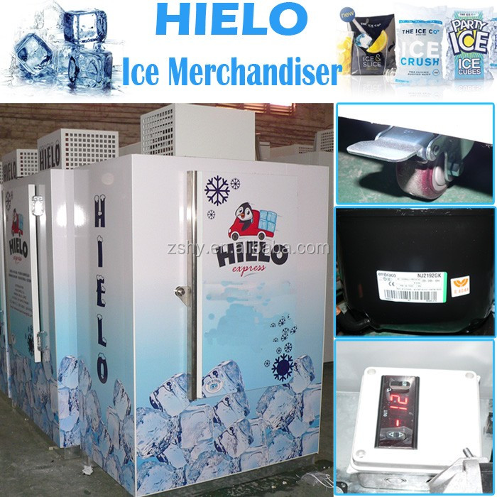 outdoor ice merchandiser 30 Cubic Feet for 100 bags ice