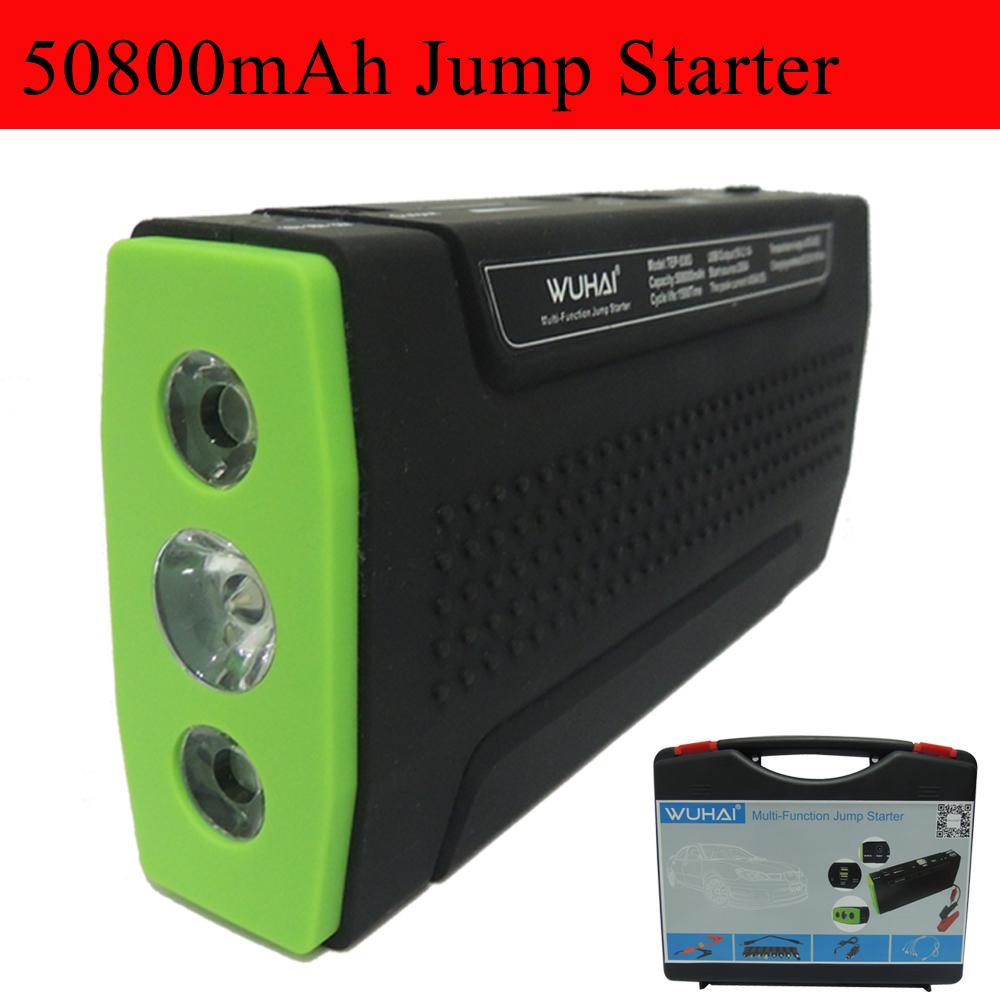 Супер WUHAI 50800 мАч автомобиль скачок стартер авто двигатель транспортного средства усилитель eps старт аккумуляторный блок батарей питания зарядное устройство