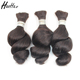 wholesale unprocessed 100% loose human hair bulk extension human braiding hair bulk no weft
